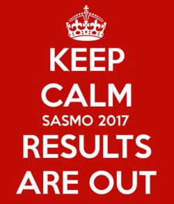 SASMO 2017 MALAYSIA RESULTS